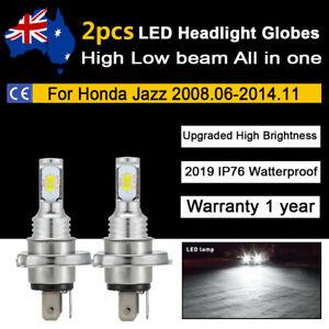 For 08-14 Honda Jazz GLi VTi VTi-S Vibe Headlight Globes 9600lm White LED Bulbs