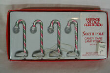 Dept 56 North Pole Village Accessory Candy Cane Lamp Posts Set of 4 #52621