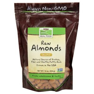 Now Foods Almonds Shelled 1 lb, Clearance for exp date 01/2021