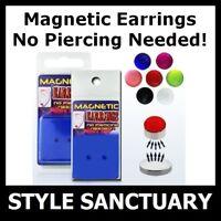 Magnetic Earrings Studs Fake Ear Ring Clip-on Piercing Helix Tragus Flesh Plug
