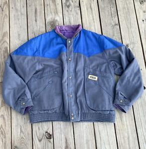Vintage Rip Curl Nylon Jacket Mens Reversible Grey Blue XL