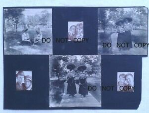 1909 BOOTHS PHOTOS..ELEGANT LADIES TENNIS ROCKETS,BOYS EMBRASING,SEDGWICK KANSAS