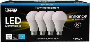 Feit Dimmable LED 5000K Daylight 4pack (100W Replacement) 17.5W M37A
