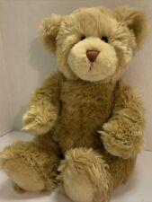 "Build A Bear Classic Light Brown Shaggy Fur Teddy Bear Plush 15"" Soft Cuddly"