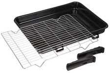 Large Vitreous Enamel Oven Grill Pan with Handles & Rack for Zanussi 420 x 300mm