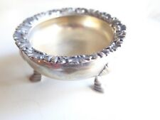 Tiffany & Co Sterling Silver Footed Salt Dish Bowl Repousse