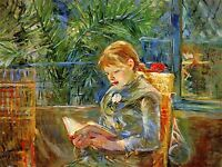 BERTHE MORISOT LITTLE GIRL READING OLD MASTER ART PAINTING PRINT POSTER 387OMA