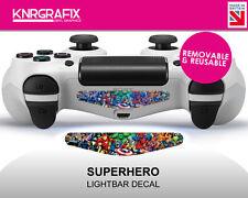 KNR2527 NEW Superhero Dualshock 4 PS COLOUR Lightbar Decal | 2 Pack