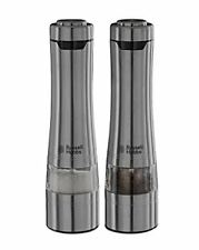 Russell Hobbs Battery Powered Salt and Pepper Grinders 23460-56 - Stainless Stee