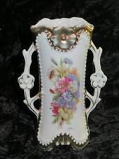 Very Old Porcelain Vase Summer Floral Pattern, Relief Decor and Gilding (2)