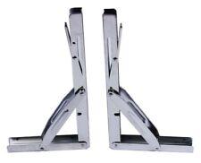 SET OF 2 HEAVY DUTY S.S FOLDING SHELF BENCH TABLE BRACKET 250KG LOAD LONG ARM