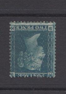 "GB QV 2d Blue SG45Wi Plate 9 Inverted Watermark ""SK"" 1858 Unused Stamp"