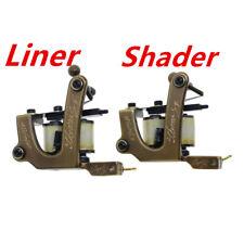 tattoo machine tattoo gun brass frame set liner and shader pack of 2
