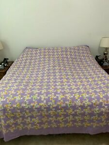 Homemade Tessellation quilt top King size 99x102 - Free Shipping