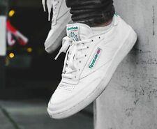Reebok Club C Classic 85 Retro Leather Sneaker Men Shoes 8-11 White/Green AR0456
