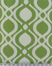 Drapery Upholstery Fabric Indoor / Outdoor Geometric Ellipse - Green & White