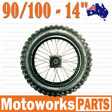 "90/100 - 14"" Inch Tire & Rim Rear back wheel BIGFOOT Dirt Pit Trail PIT PRO Bike"