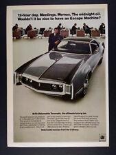 1970 Oldsmobile Olds Toronado vintage print Ad
