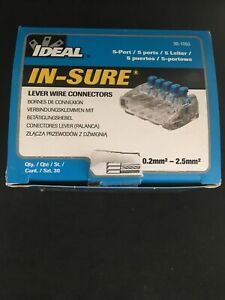 NEW In-Sure Lever Wire Connector 5 Port 30-1055 Box Of 30 Pcs