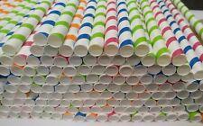 More details for paper,jumbo straw,slush,milkshake,smoothie paper straws 9mm x 200mm,4 colored