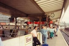 PHOTO  1989 MANCHESTER PICADILLY RAILWAY STATION WORKS POORLY ADVANCED FOR 1989