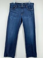 7 For All Mankind 'austyn' Women's Size 36 Straight Leg Dark Wash Blue Jeans