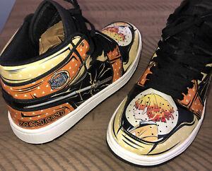 Anime sneakers Demon Slayer Zenitsu Shoes high top Men's 6 Women's 8.5 EUR 39