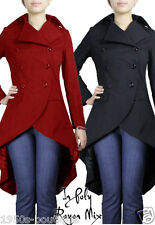 coat gothic jacket black steampunk women ladies long s victorian plus corset