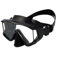 Promate Panoramic 3-Window Scuba Dive Purge Mask Snorkeling Silicone Skirt Strap