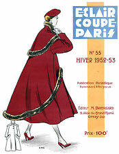 1952-53 Winter  Eclair Coupe Paris Pattern Book Reprint