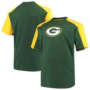 Green Bay Packers Majestic Contrast Raglan Big & Tall T-Shirt 2X 3X 4X 5X 6X XLT