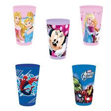 Gläser Kunststoff Zeichen Frozen/Avengers/Princesses und so Weiter. Schule
