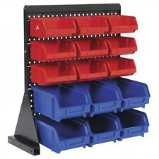 Storage Bin Rack 15 Trays Parts Garage Workshop TPS1569 Sealey Table Mount NEW