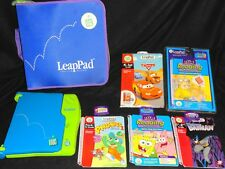 LEAP FROG - LEAP PAD LEARNING SYSTEM WITH CASE & 5 BOOKS