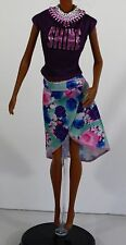 BLOUSE SKIRT NECKLACE BARBIE DOLL CLOTHES NEW  ORIGINAL ACCESSORY
