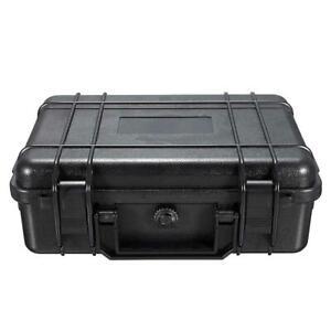 250mm Black Hard Carry Tool Case Bag Storage Box Camera Photography w/Sponge