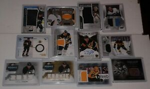 PITTSBURGH PENGUINS ROOKIES JERSEYS AUTOGRAPHS INSERTS U PICK FROM $1.00 AND UP