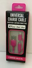 IPHONE IPAD IPOD UNIVERSAL CHARGE CABLE PINK