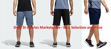 Adidas Men's Climalite Performance Active Shorts 3 Stripe Zip Pocket, Variety