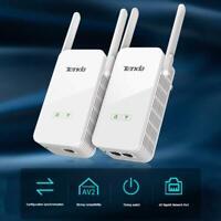 Tenda PH15 1000Mbps Powerline Ethernet Adapter 2.4GHz WIFI Extender 1 Pair