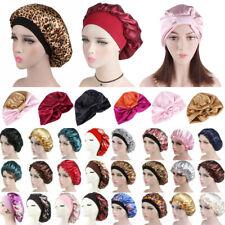 Women Satin Silk Sleeping Cap Night Sleep Hat Hair Care Scarf Bonnet Loungwear