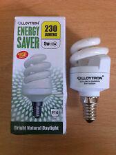 5 W 25w Ses Piccola Vite E14 a risparmio energetico SPIRALE CFL 5600K DAYLIGHT Lampadina X 10