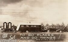 Vintage Travel Trailer Art Funny Go Places  Refrigerator / Tool  Box  Magnet