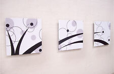 Luxury Metal Wall Decor / Art - Wooden - Abstract Painting - 3 in 1 Set