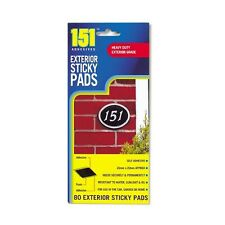 80 EXTERIOR STICKY PADS SELF ADHESIVE OUTSIDE OUTDOOR FOAM DOUBLE SIDED STRONG
