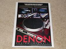 Denon DP-45f, DP-35fb, DP-23f Advertisement, 1 page, 1983, Rare Ad!