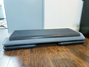 """The Step Health Club Size 43"""" Aerobic Stepper with 2 Risers"""