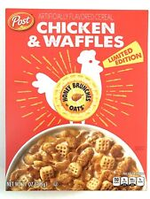 Post Limited Edition Chicken and Waffles Cereal New 11oz Honey Brunches of Oats