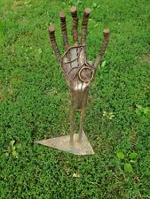 Metal hand  Art Yard welded metal Sculpture by Artist  welderartist