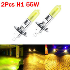 1 Pair High Power H1 Yellow COB LED Bulbs For Cars Fog Lights Driving DRL Lamps